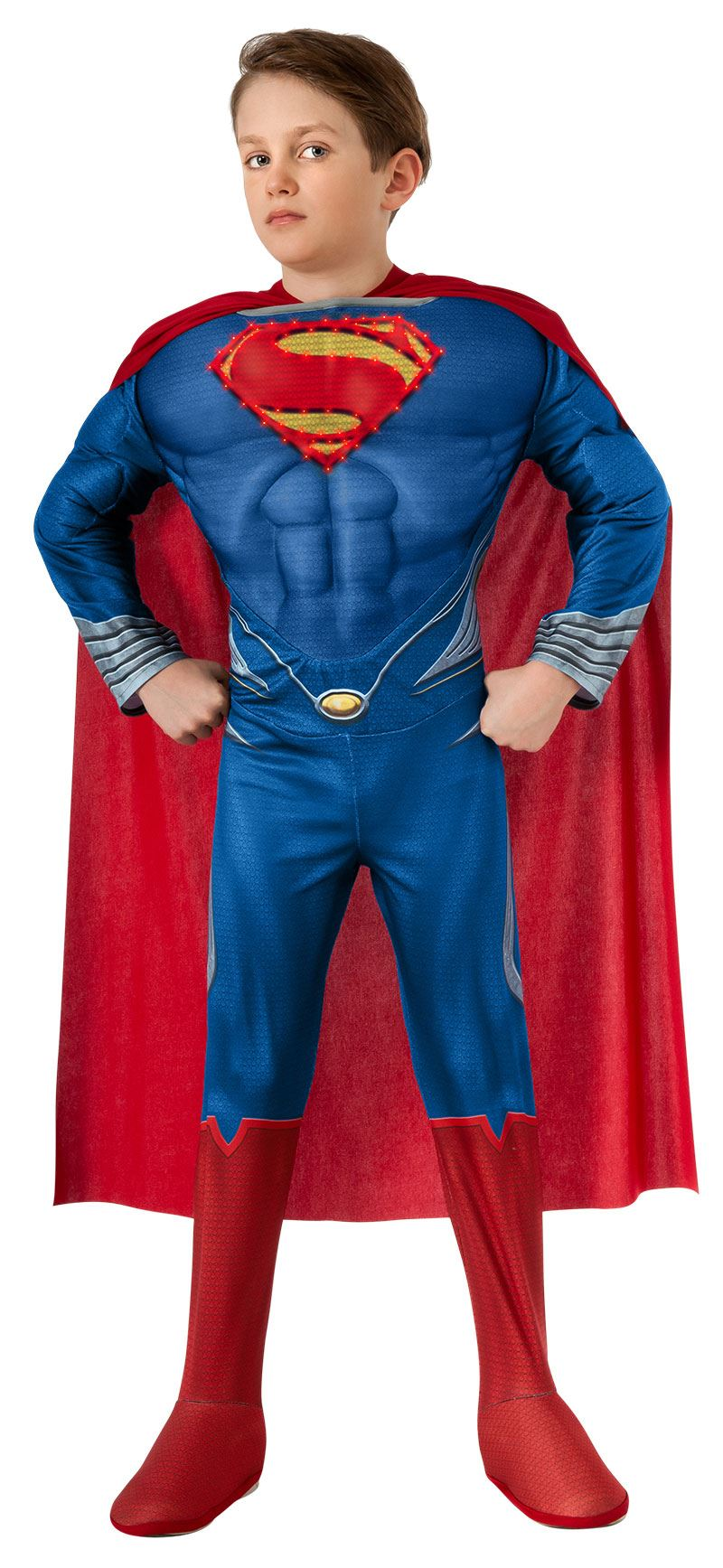 kids super man boys muscle light up costume | $36.99 | the costume land