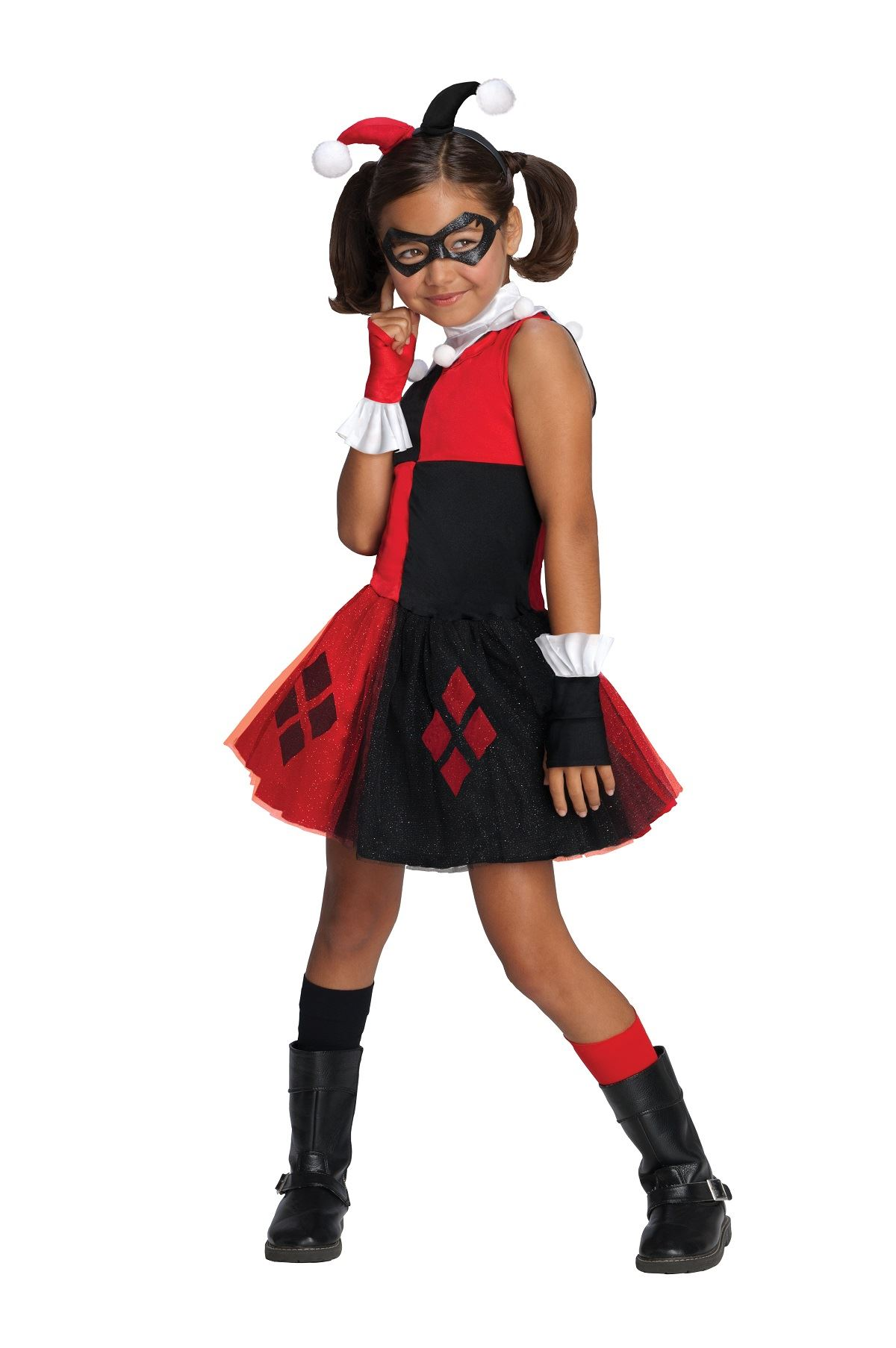 4d80cba86771 ... Kids Harley Quinn Super Villian Girls Costume. Click here to view Large  Image