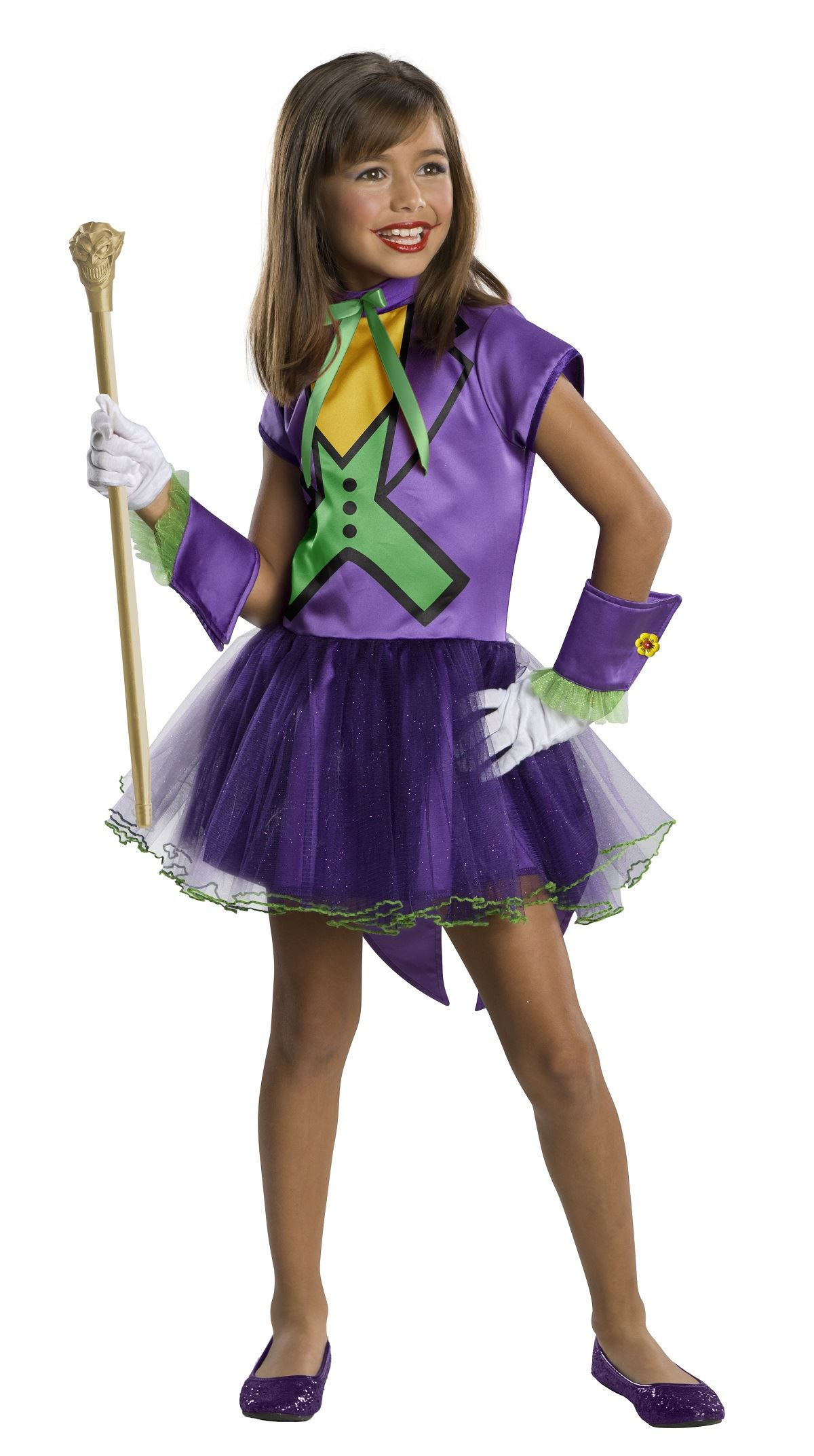 Kids Joker Super Villain Girls Costume