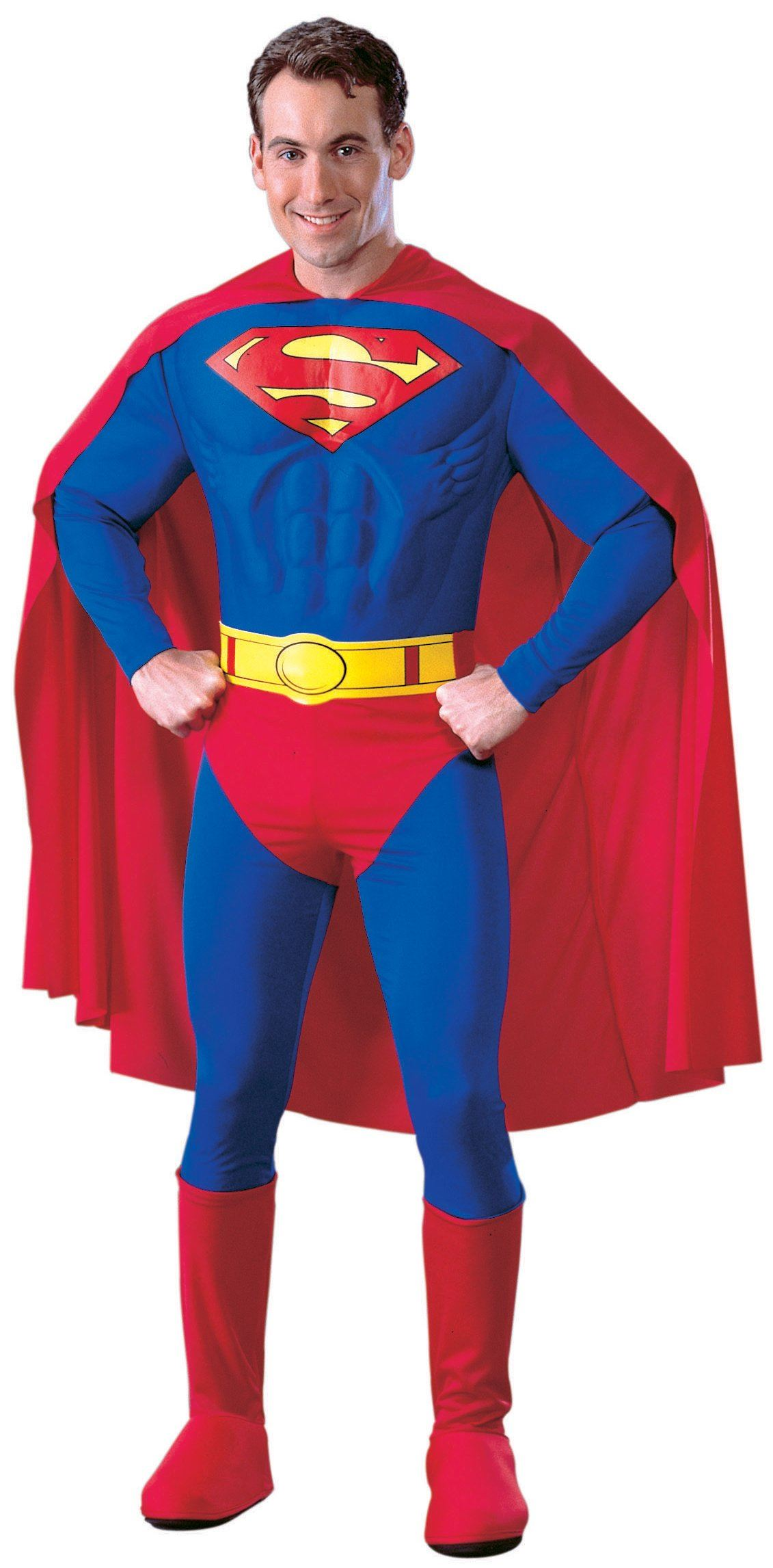 adult deluxe superman muscle men costume - Halloween Muscle