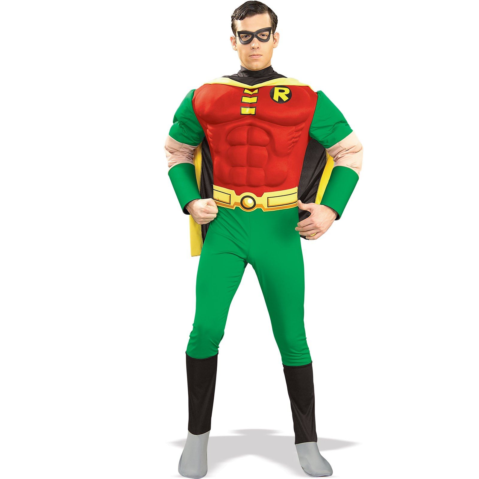 Comic Robin Hood Deluxe Muscle Super Hero Men Halloween ...