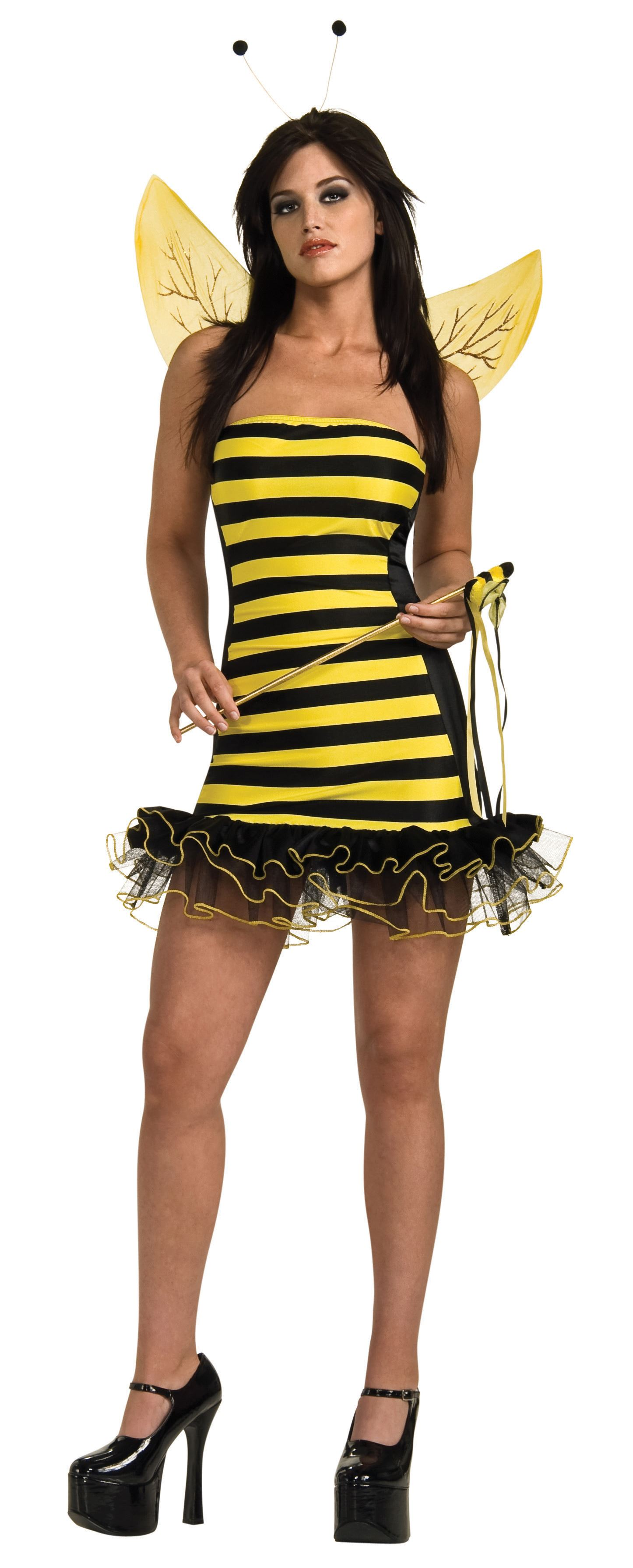 Adult Buzzy Bee Women Honey Bee Costume  sc 1 st  The Costume Land & Adult Buzzy Bee Women Honey Bee Costume | $29.99 | The Costume Land