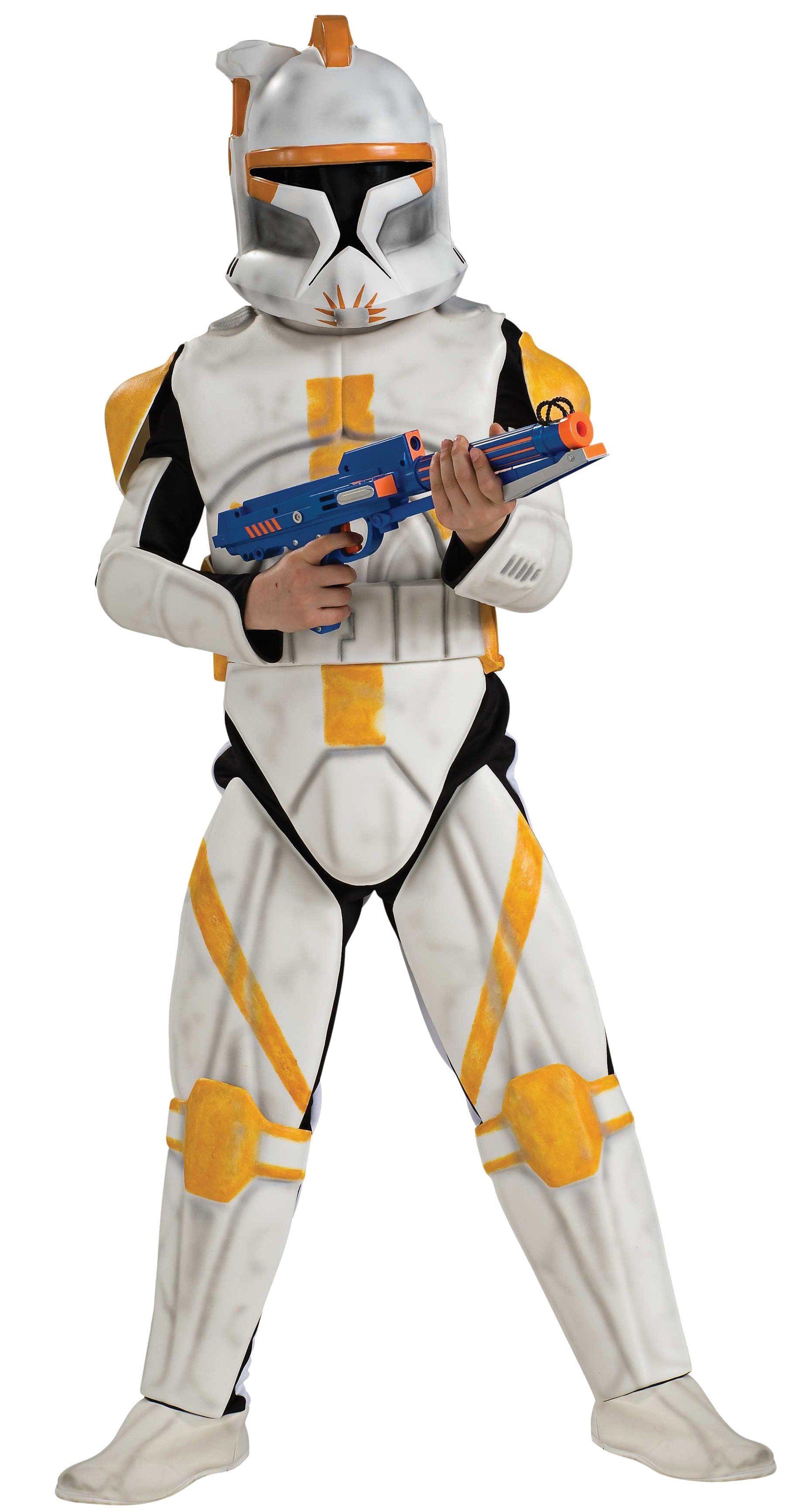 Adult Clone Trooper Commander Cody Star Wars Deluxe Men Costume ...