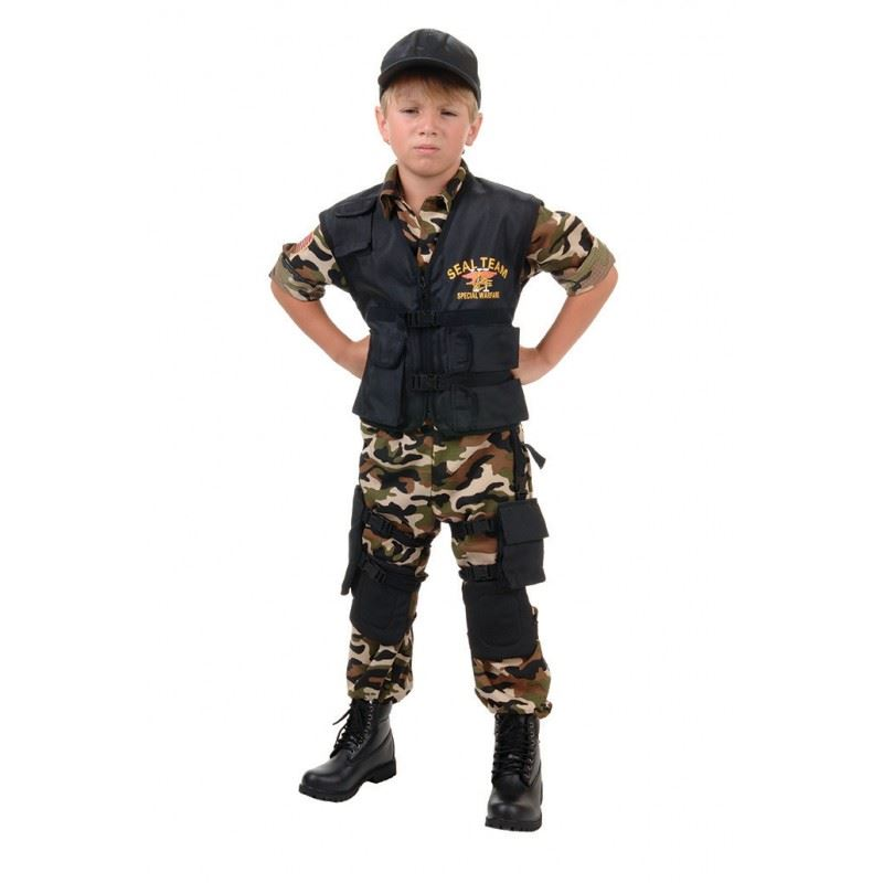 kids seal team boys army costume - Boys Army Halloween Costumes